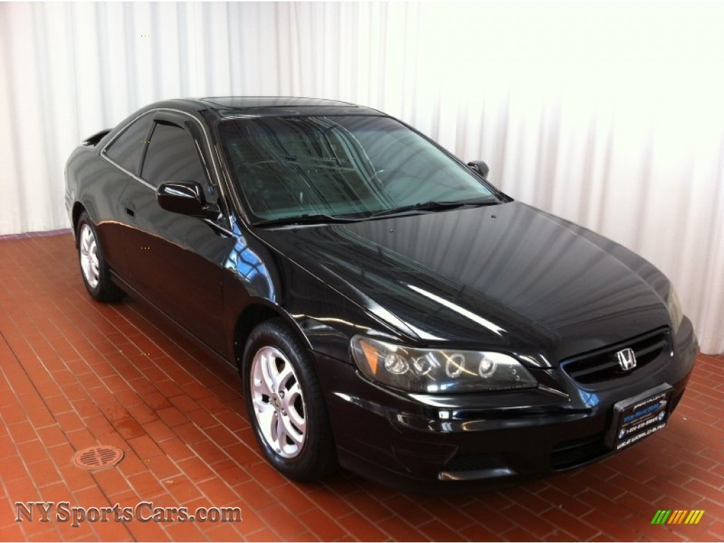 hight resolution of 2002 accord ex v6 coupe nighthawk black pearl charcoal photo 1