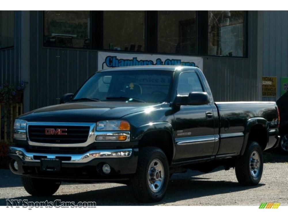 medium resolution of 2005 sierra 2500hd sle regular cab 4x4 polo green metallic dark pewter photo