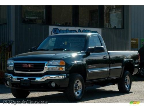 small resolution of 2005 sierra 2500hd sle regular cab 4x4 polo green metallic dark pewter photo