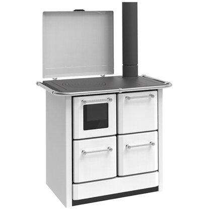 Vulcania Cucina A Legna Con Forno Elena 85 Kw Bianco