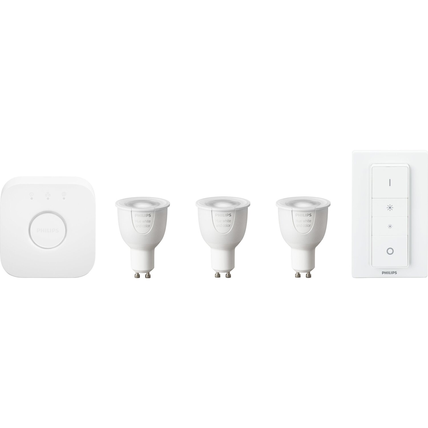 Philips Hue Led Lampe White And Color Ambiance Starter Kit Gu1065 W Eek A