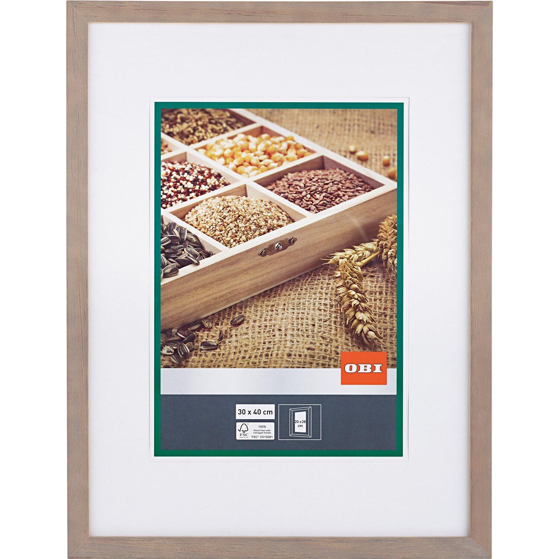 Obi Holz Bilderrahmen Grau 30 Cm X 40 Cm
