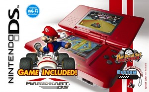 Paquete Mario Kart DS y Nintendo DS Hot Rod Red