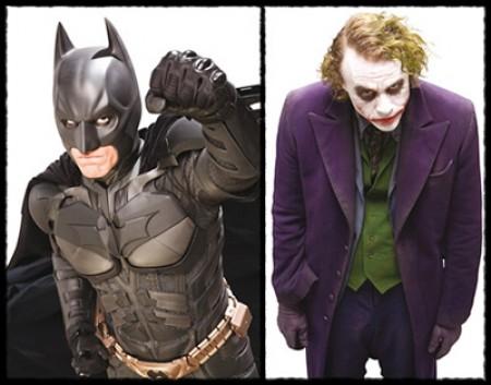 Batman contra el Guasón en el caballero oscuro