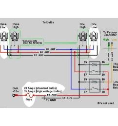 h4 headlight relay wiring harness diagram [ 1600 x 1600 Pixel ]