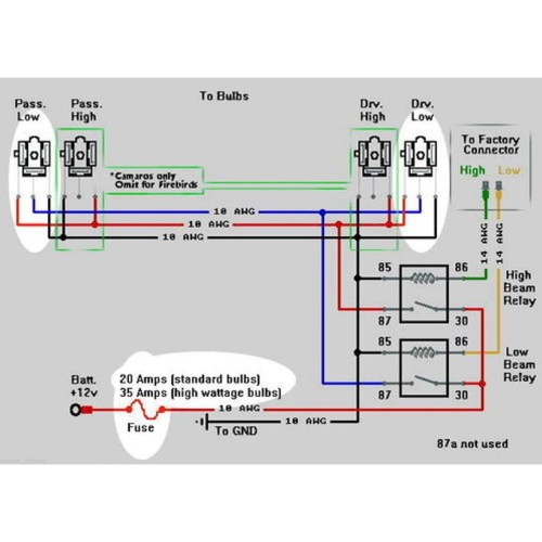 small resolution of dual high low beam headlight relay wiring harness h4 9003 with heatdual high low beam headlight