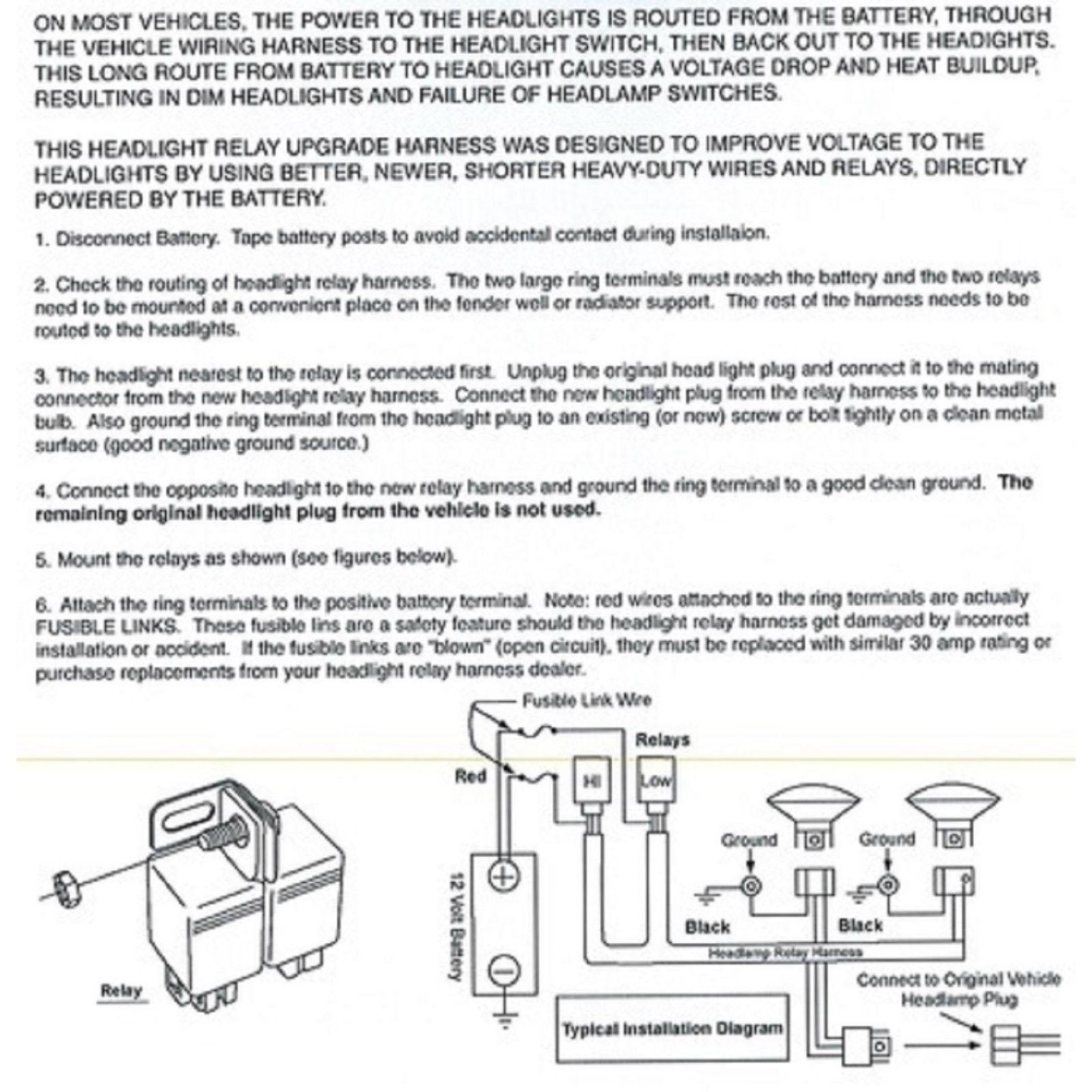 hight resolution of ceramic h4 headlight relay wiring harness 2 headlamp light bulb socket plugs 7