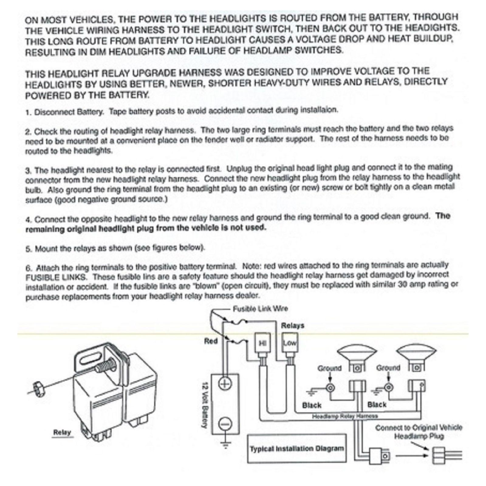 hight resolution of ceramic h4 headlight relay wiring harness 2 headlamp light bulb socket plugs 7x6