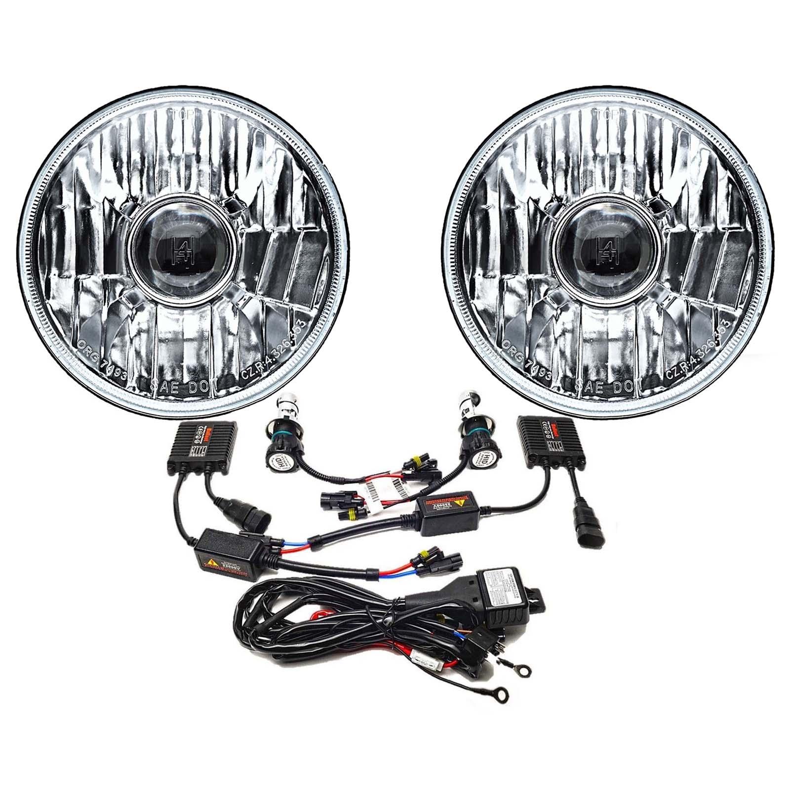 5-3/4 Projector Crystal Clear Glass Headlight Headlamp