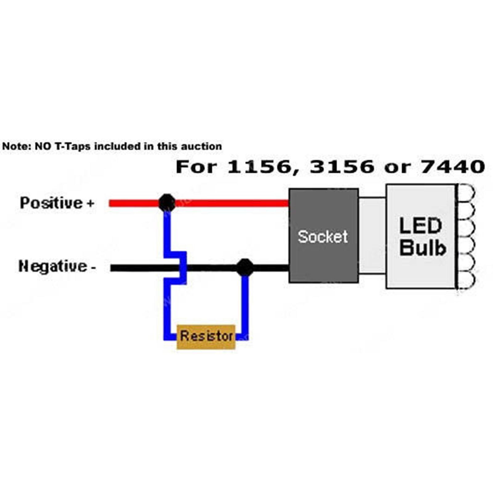 Led Light Bulb Load Resistor Corrector Turn Signal Park