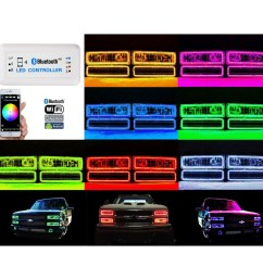 1988 98 chevy gmc multi color changing led rgb headlight halo ring 95 98 chevy halo wiring diagram [ 1600 x 1600 Pixel ]
