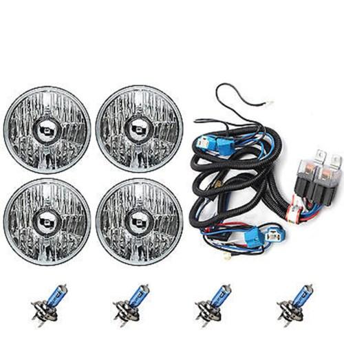 small resolution of 5 3 4 crystal halogen headlight headlamp 100w sw light bulbs relay harness kit