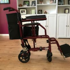 Transport Chair Walgreens Table And Rentals Orlando Ultra Light Weight For Sale In
