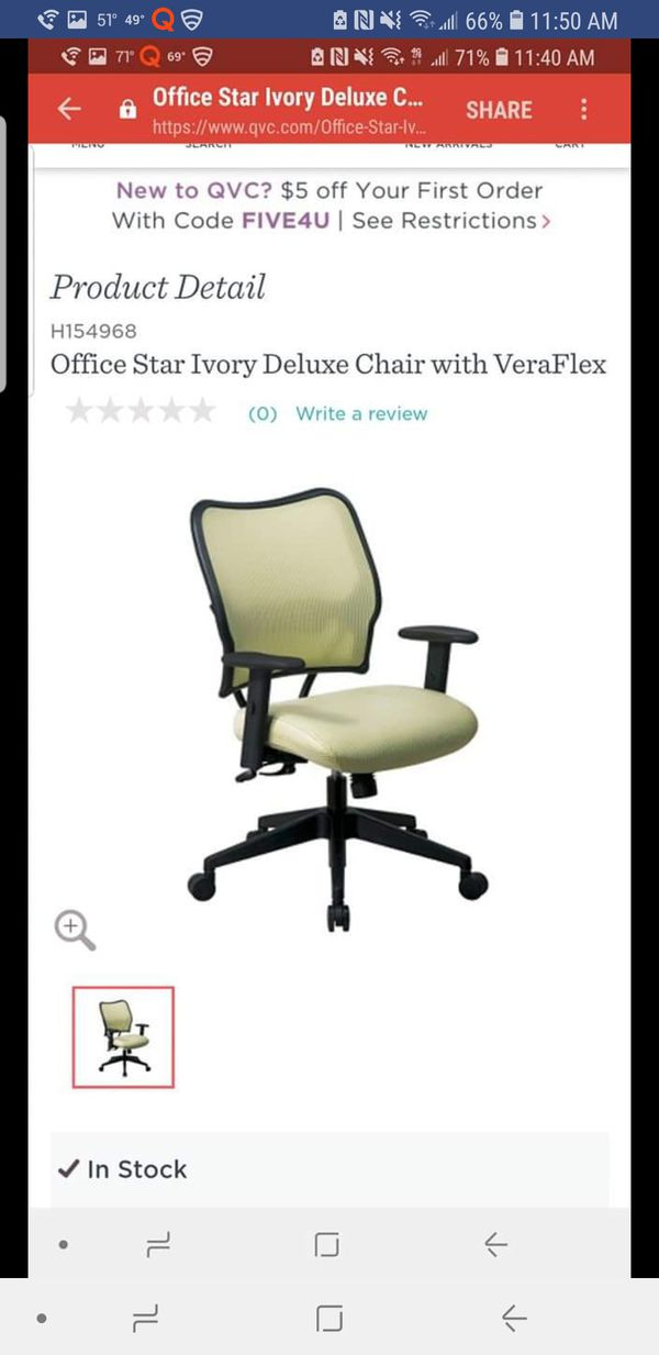 office chair qvc diy wicker cushions ivory for sale in ballwin mo offerup