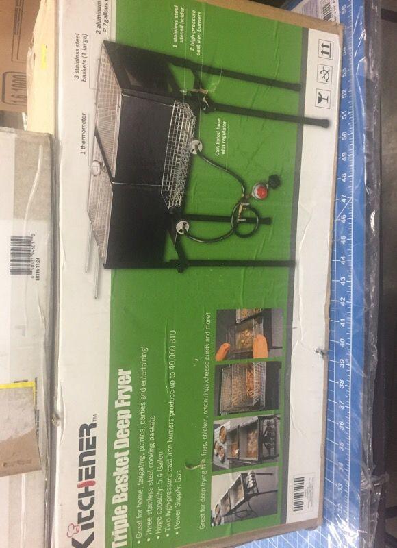 kitchener triple basket deep fryer kitchen wall panels new for sale in sanford nc offerup