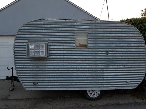vintage travel trailer canned