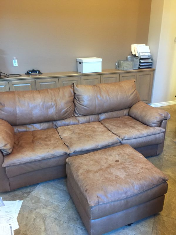 leather sofas scottsdale az sofa bed storage free and ottoman bring your truck for sale in