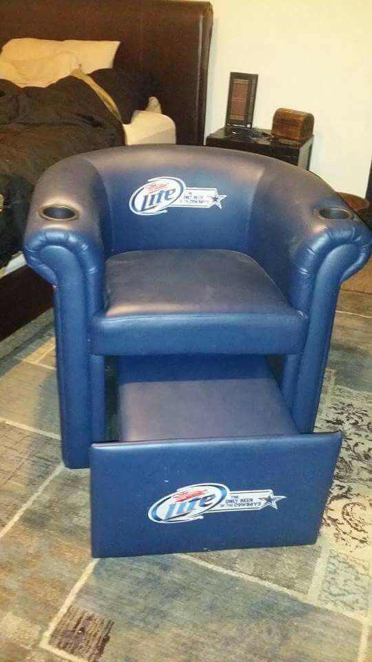 dallas cowboys chairs sale hanging garden chair b&q miller lite cooler for in fort worth tx