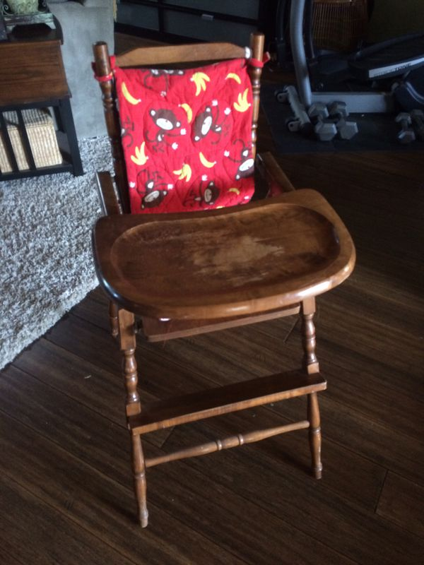 vintage wood high chair kids camping chairs target for sale in woodway tx offerup
