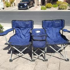 Double Seat Folding Chair Cream Crushed Velvet Covers Great Condition Kids For Sale In Las Vegas