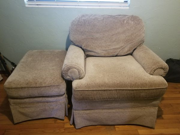 big chair with ottoman silver accent and for sale in lakeland fl offerup