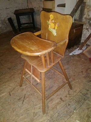 antique wooden high chair chairs ebay new and used for sale in roanoke va offerup 1950 s