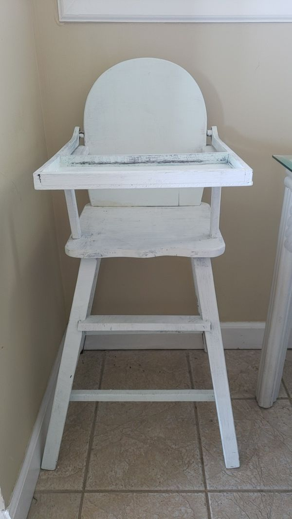 vintage wooden high chair rustic rail ideas for sale in panama city beach fl offerup