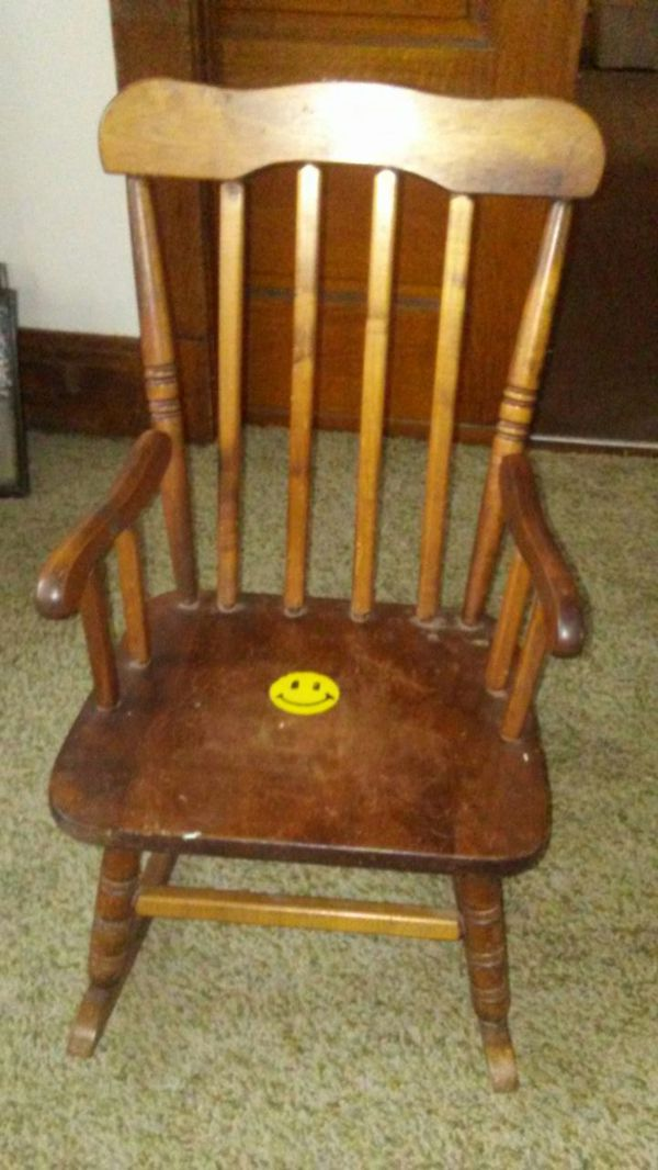 kids wood rocking chair stool autocad little for sale in cleveland oh offerup