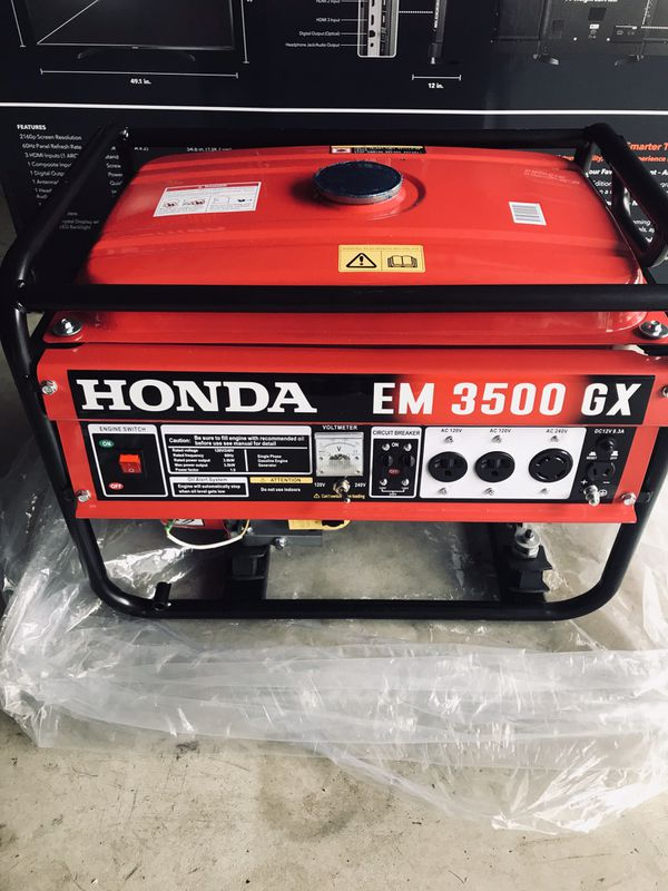 Honda Em 3500 Gx Generator : honda, generator, Gasoline, Generator, Honda, EM3500, Vancouver,, OfferUp