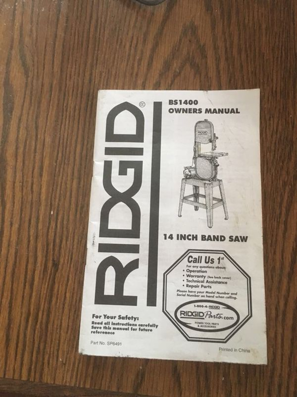 Ridgid Bs1400 Band Saw Price