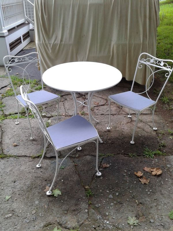 ice cream table and chairs large garden chair covers for sale in maynard ma offerup
