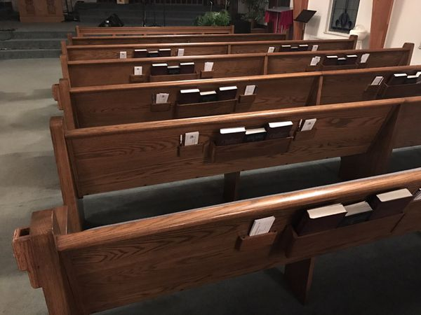 25 church pews for