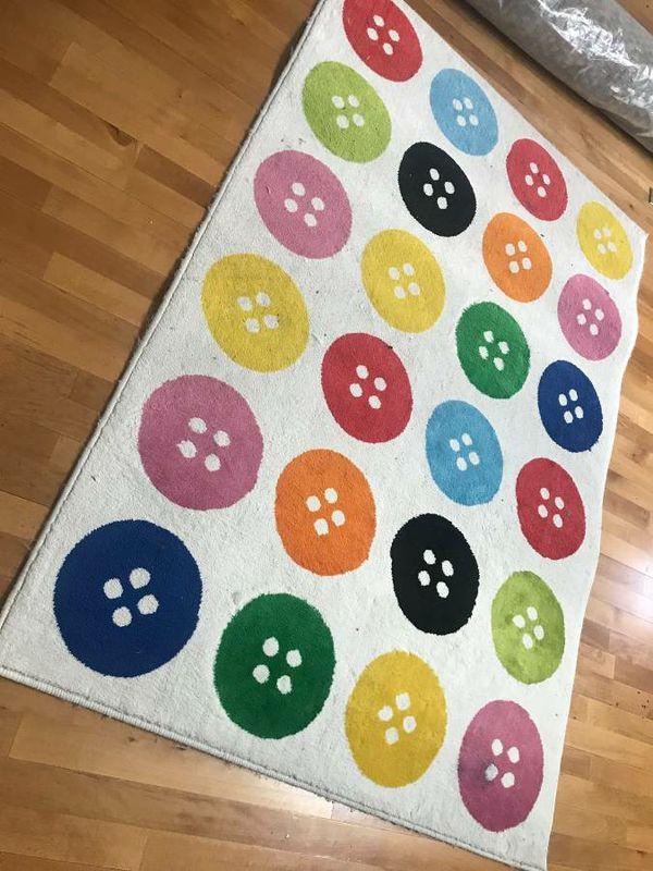 Ikea TASTRUP Multicolor Button Rug 6  5  x 4  4  for Sale in Stockton CA  OfferUp