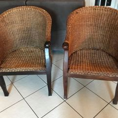 Rattan Wingback Chairs Strong Back For Sale In Davie Fl Offerup