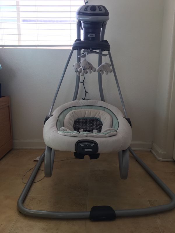 graco swing chair zebra dining room parson covers duetsoothe and rocker for sale in los alamitos ca