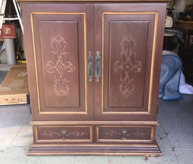 Rustic Tv Armoire Hutch  H  Deep Also Comes With  Base As Needed  Offer For Sale In San Carlos Ca Offerup