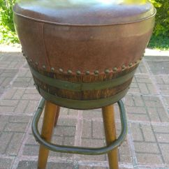 Seng Chicago Chair Ligne Roset 3 Vintage Stools Swivel Whiskey Barrel Bar Chairs Mid Century Antiques