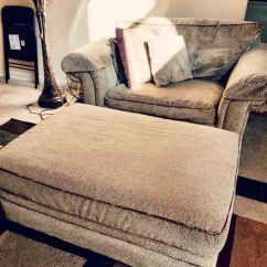 Chair And A Half With Storage Ottoman Massager For Bassett Custom W Furniture In Stone Mountain Ga Offerup