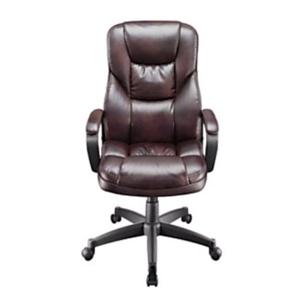 realspace fosner high back bonded leather chair cheap computer desk chairs office cabernet open in the appcontinue to mobile website