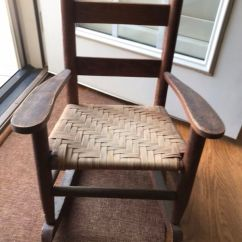 Antique Rocking Chairs For Sale Serta Managers Chair Child S Woven Seat In Durham Nc