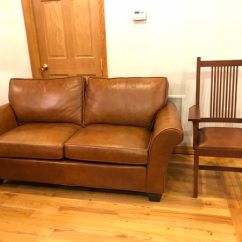 Genuine Leather Chair How To Reupholster A Dining Room Cushion Authentic All Sofa With Cherry By Stickler