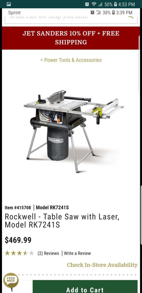 Rockwell Shop Series Table Saw Review
