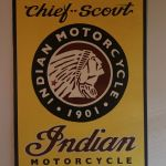 Large Custom Painted Antique Indian Motorcycle Sign For Sale In Steilacoom Wa Offerup