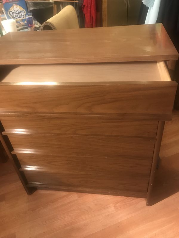 vintage kroehler dresser chest