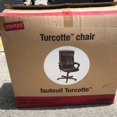 Staples Turcotte Chair Brown Outdoor French Bistro Table And Chairs Luxura High Back Managers For Sale In