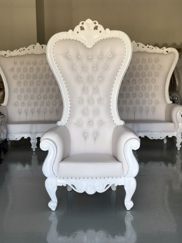 how to make a queen throne chair double adirondack with table free shipping white chairs king royal baroque wedding event party photography hotel lounge boutique furniture