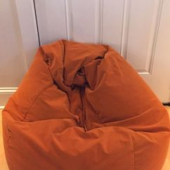 Corduroy Bean Bag Chair Modern White Dining Orange For Sale In Burlington Vt Offerup