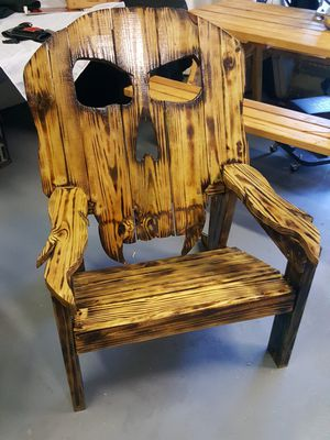 wooden skull chair office arms too wide chairs for sale in boynton beach fl offerup handcrafted
