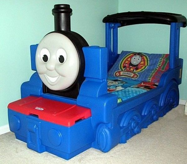 Thomas The Train Toddler Bed Used Easy snap together for Sale in Houston TX  OfferUp