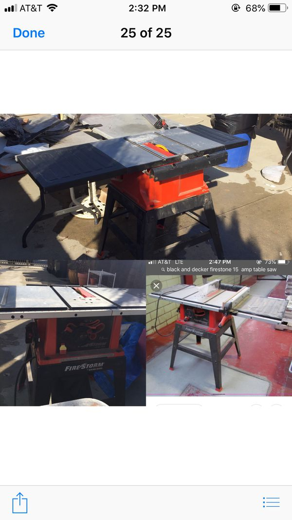 Black And Decker Firestorm Table Saw